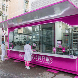 Hot meal vending containers by Country Garden