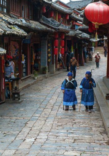 Dayan old town scenery Lijiang Yunnan China