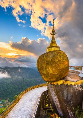 Golden Rock of Mount Kyaiktiyo Myanmar