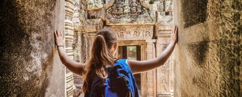 Preah-Khan-temple-in-Angkor-bas-reliefs-mysterious-ruins-Siem-Reap-Cambodia