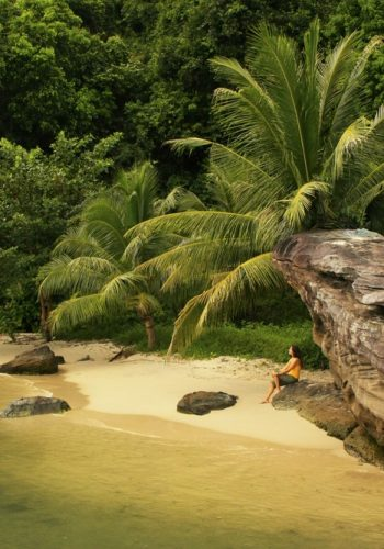 Small beach at Ream National Park Cambodia Southeast Asia