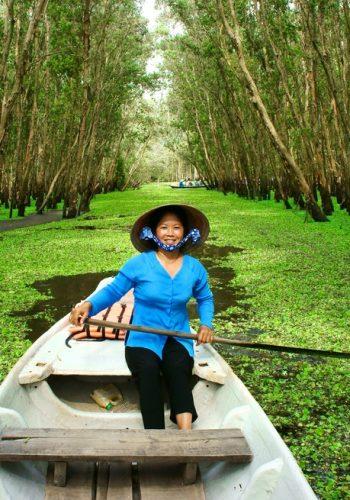 Tra Su indigo forest eco tourist area at Mekong Delta Vietnam
