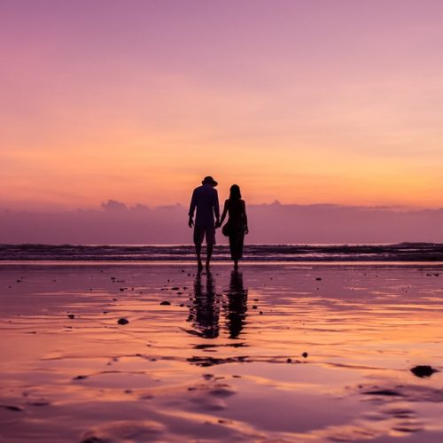 Young couple on the beach of the Bay of Bengal