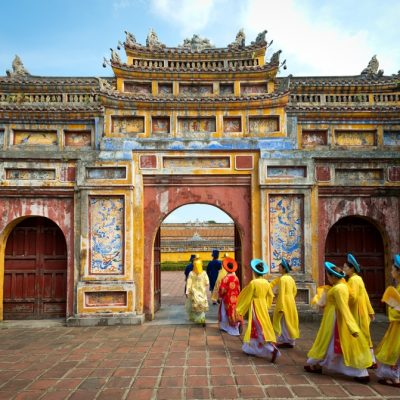 archway Imperial City of Hue Vietnam