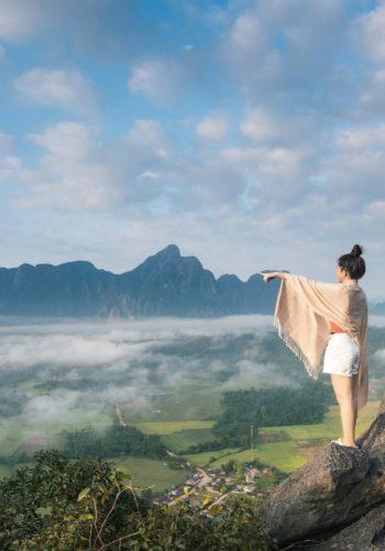 high mountain in Vang-Vieng Laos