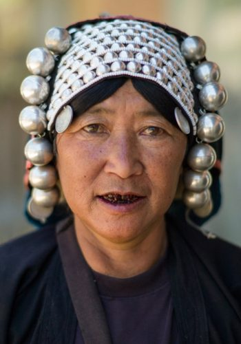 traditional-headdress-in-Ahka-hill-tribe-in-Kengtung-Myanmar